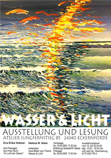 """2009 04 """"Wasser & Licht""""  Plakat"""
