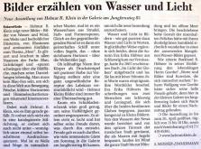 """2009 04 """"Wasser & Licht""""  EZ  21. 04. 09"""