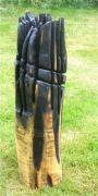 2010  Trollkrone - Birke gebrannt  und gewachst