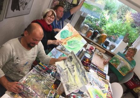 Stexwig Erlebnisraum Kunst  BEGEBNUNG MIT DER LANDSCHAFT  individuelle Malerei mit Christof Klemmt 1